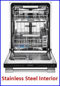 Interior of Stainless Steel Dishwasher Tub