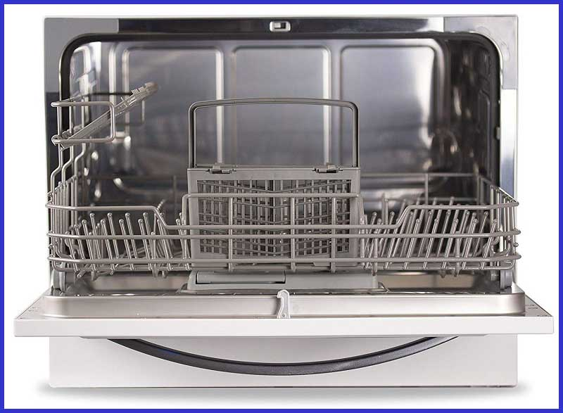 Interior of Countertop Dishwasher BCD6W