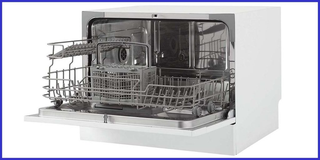 Interior of Danby Portable Countertop Dishwasher DDW621WDB