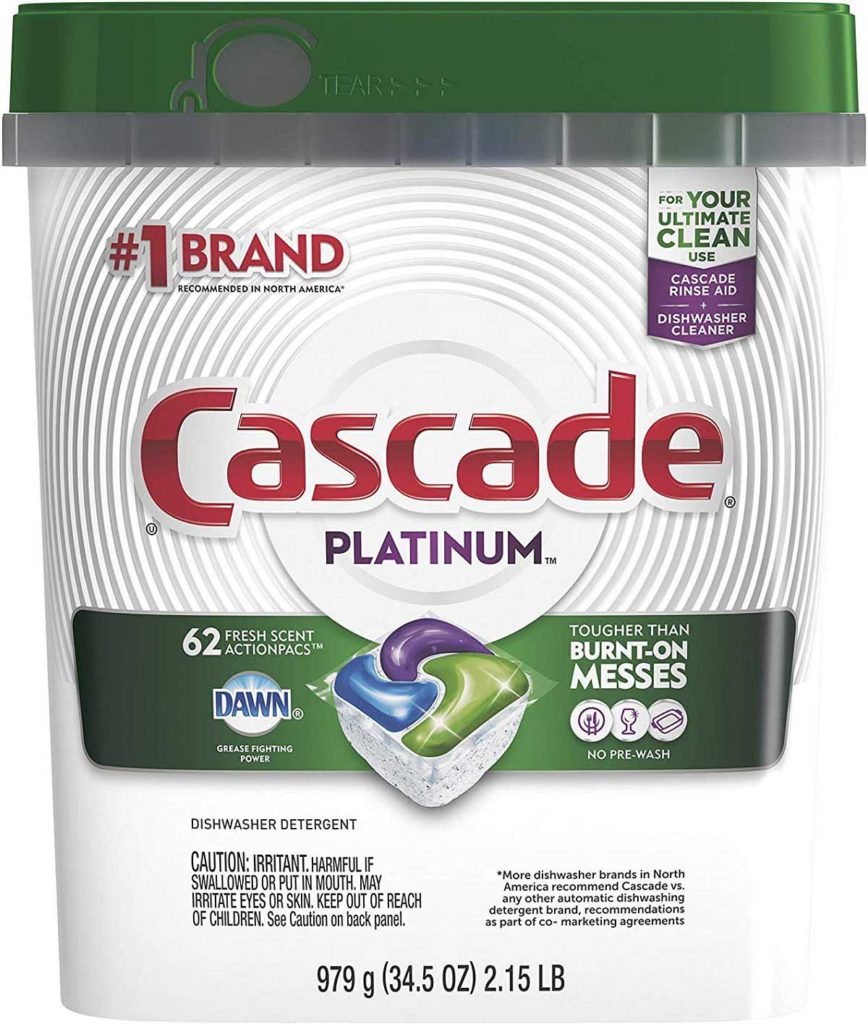 Cascade Platinum Dishwasher Pods