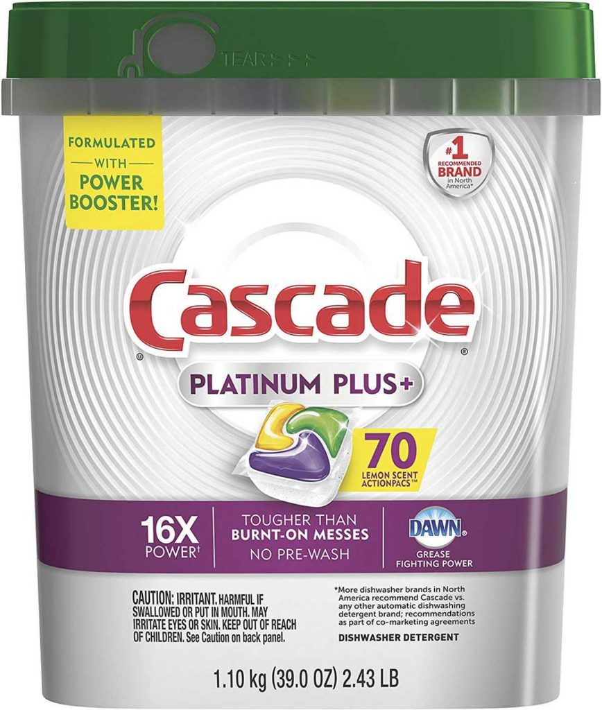 Cascade Platinum Plus Dishwasher Pods