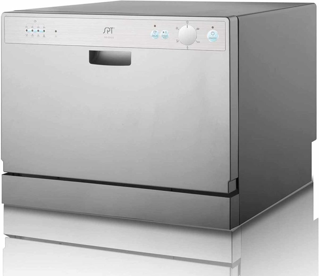 SPT SD-2202S Countertop Dishwasher - Silver Color