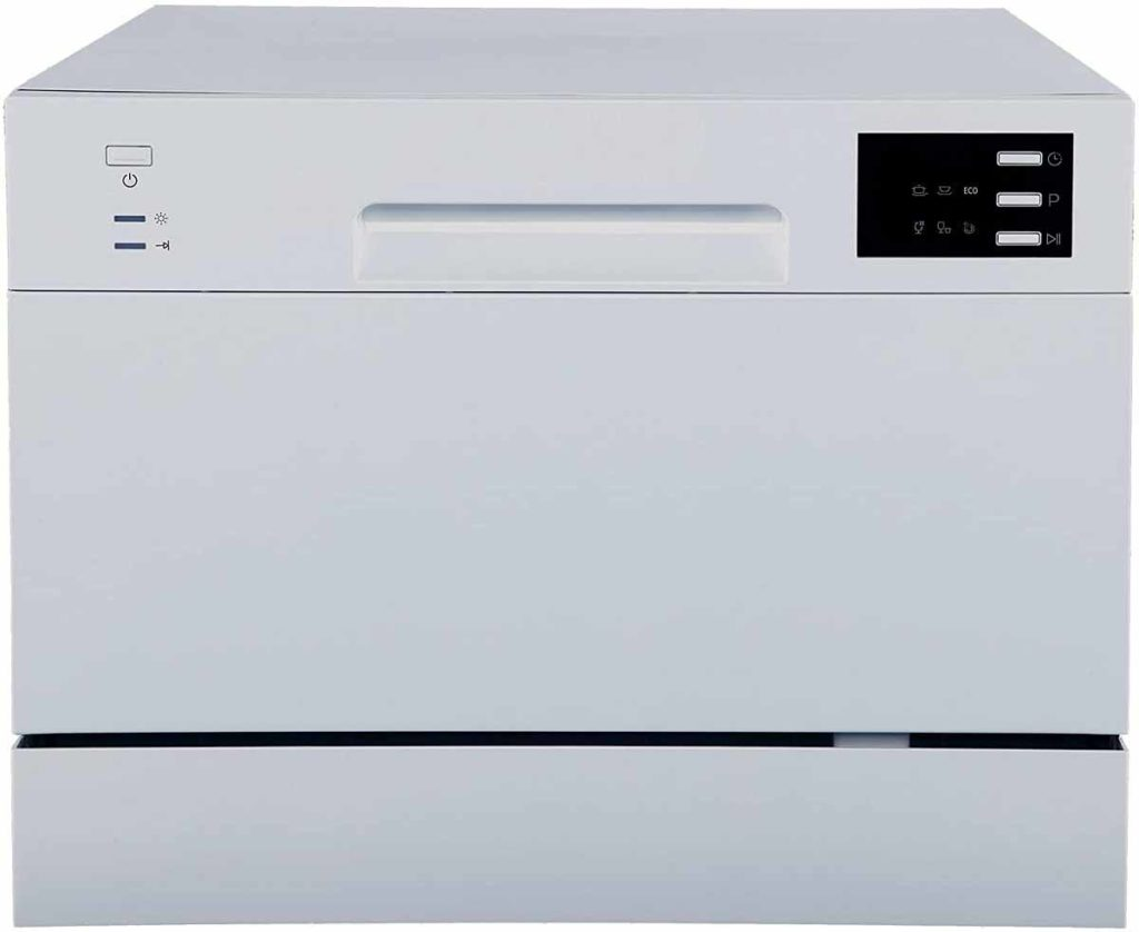 SPT SD-2225DS Countertop Dishwasher - Silver Color