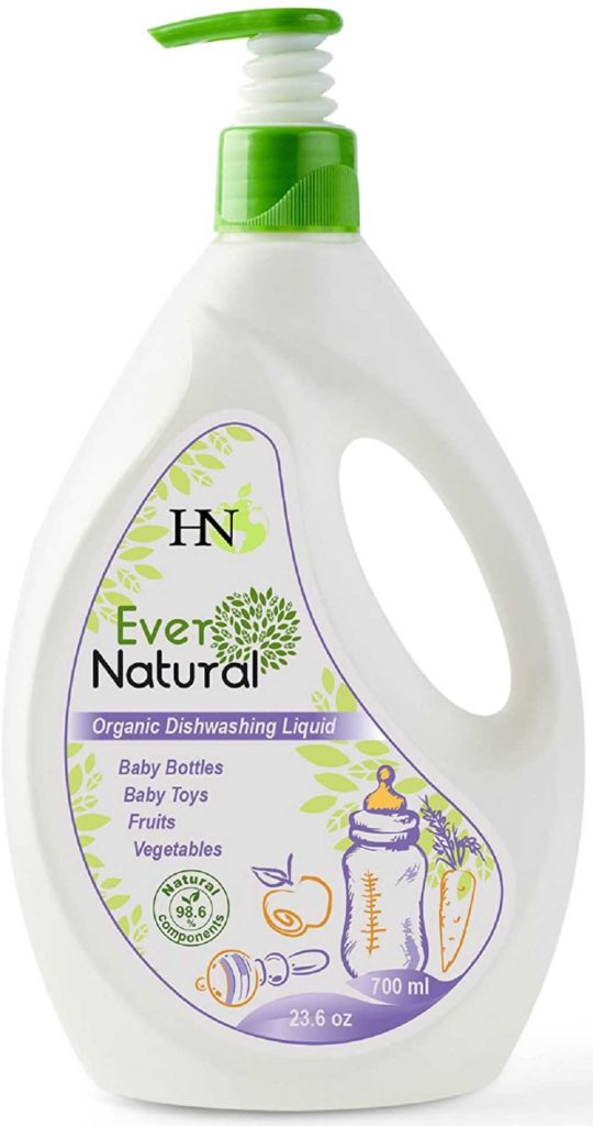Natural Dishwasher Detergent Gel, Non-Toxic Detergent for Baby Bottles and Toys